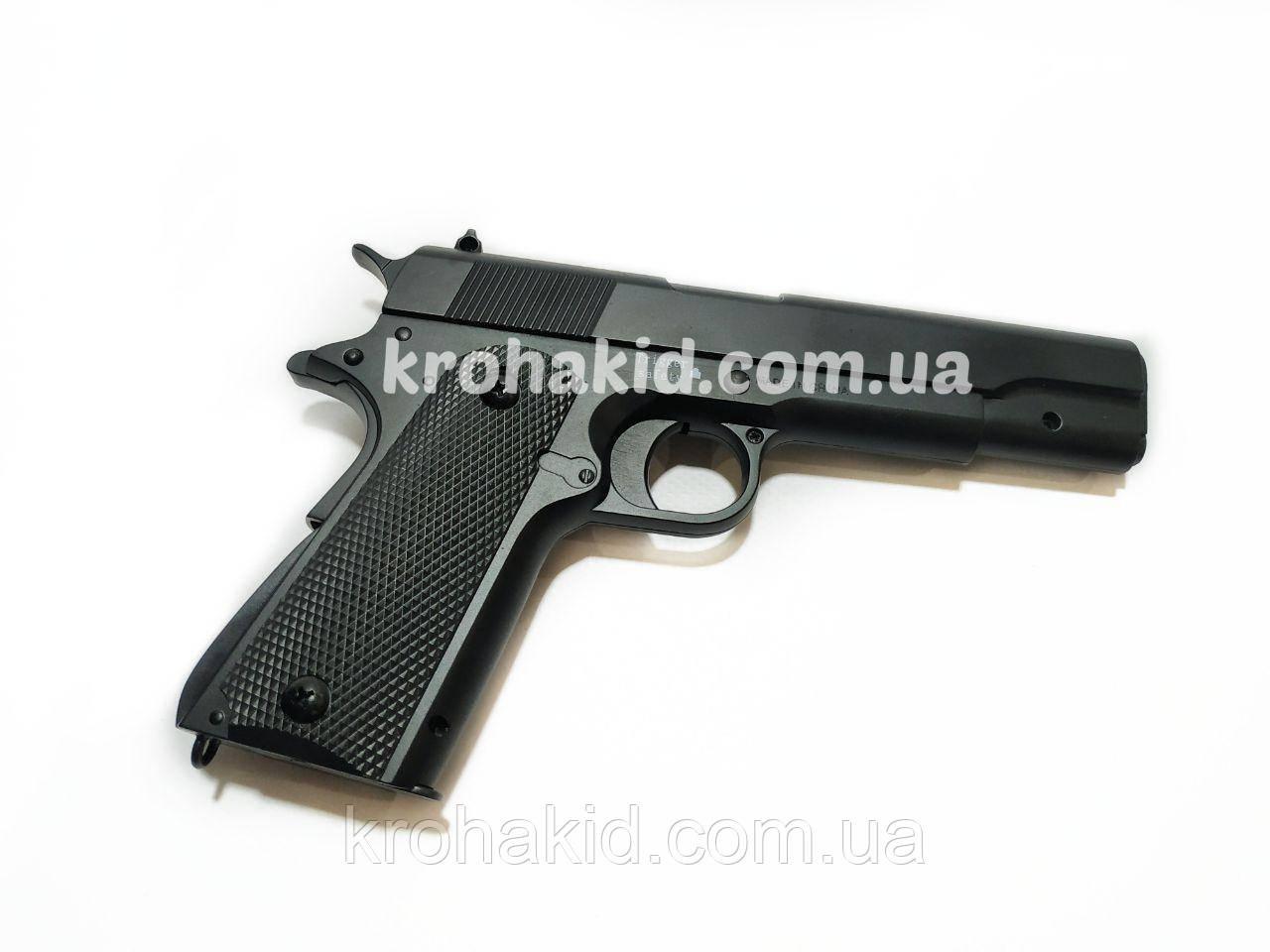 Игрушечный пистолет на пульках металлический детский CYMA ZM19 / ЗМ 19 (точная копия Colt 1911)