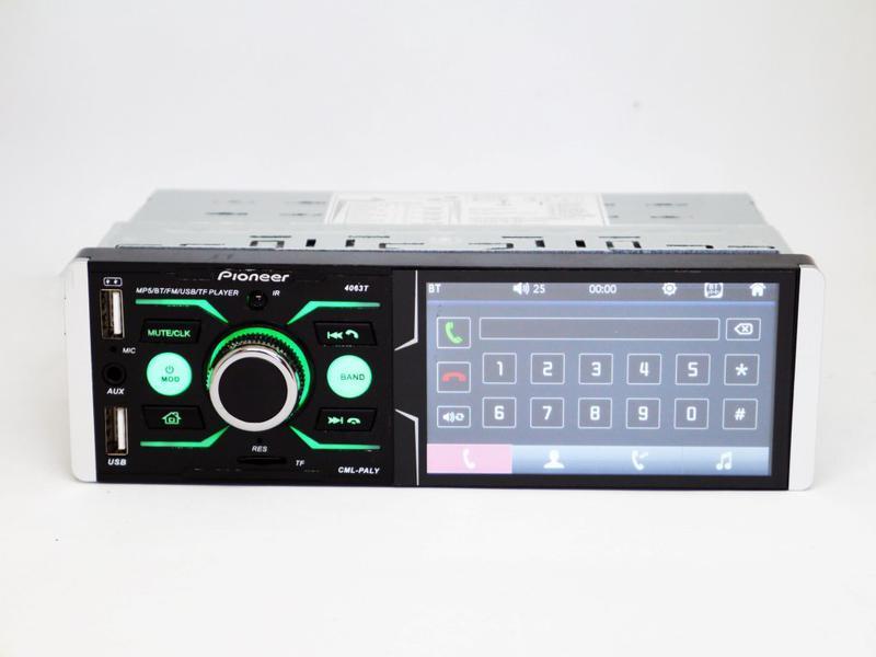 Автомагнитола 4063T Bluetooth/USB/AUX Сенсорный экран