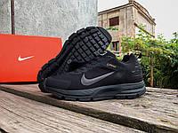 Мужские зимние термо кроссовки Nike Zoom Structure Shield 17 Black утепленные