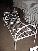 Кровать металлическая функциональная с регулируемым подголовником