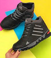 Детские зимние кожаные ботинки для мальчика в в стиле Adidas, подростковые зимние кожаные ботинки на мальчика
