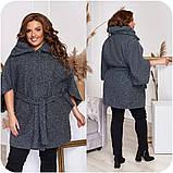 Женский кардиган демисезонное пальто с карманами люрекс+подклад размер:48-50,52-54,56-58,60-62,64-66, фото 2