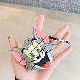 Силиконовый футляр Tom & Jerry series для наушников AirPods + карабин, фото 2