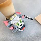 Силиконовый футляр Tom & Jerry series для наушников AirPods + карабин, фото 3