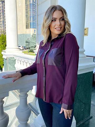 Модная блуза с карманами на груди, фото 2