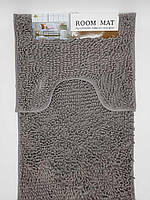 Набор ковриков в ванную комнату из микрофибры лапша ''ROOM MAT'' графитовый 60х90см. и туалет 40х60см.
