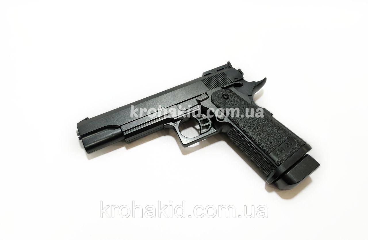 Игрушечный пистолет на пульках с металлическими деталями CYMA ZM05 Airsoft Gun