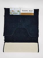 Набор ковриков в ванную комнату из микрофибры лапша ''ROOM MAT'' черный 50х80см. и туалет 40х50см.