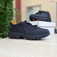 Мужские зимние кроссовки Merrell Ice Cup черные с оранжевым, фото 1