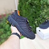 Мужские зимние кроссовки Merrell Ice Cup черные с оранжевым, фото 6