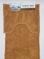 Набор ковриков в ванную комнату из микрофибры лапша ''ROOM MAT'' терракотовый  60х90см. и туалет 40х60см.