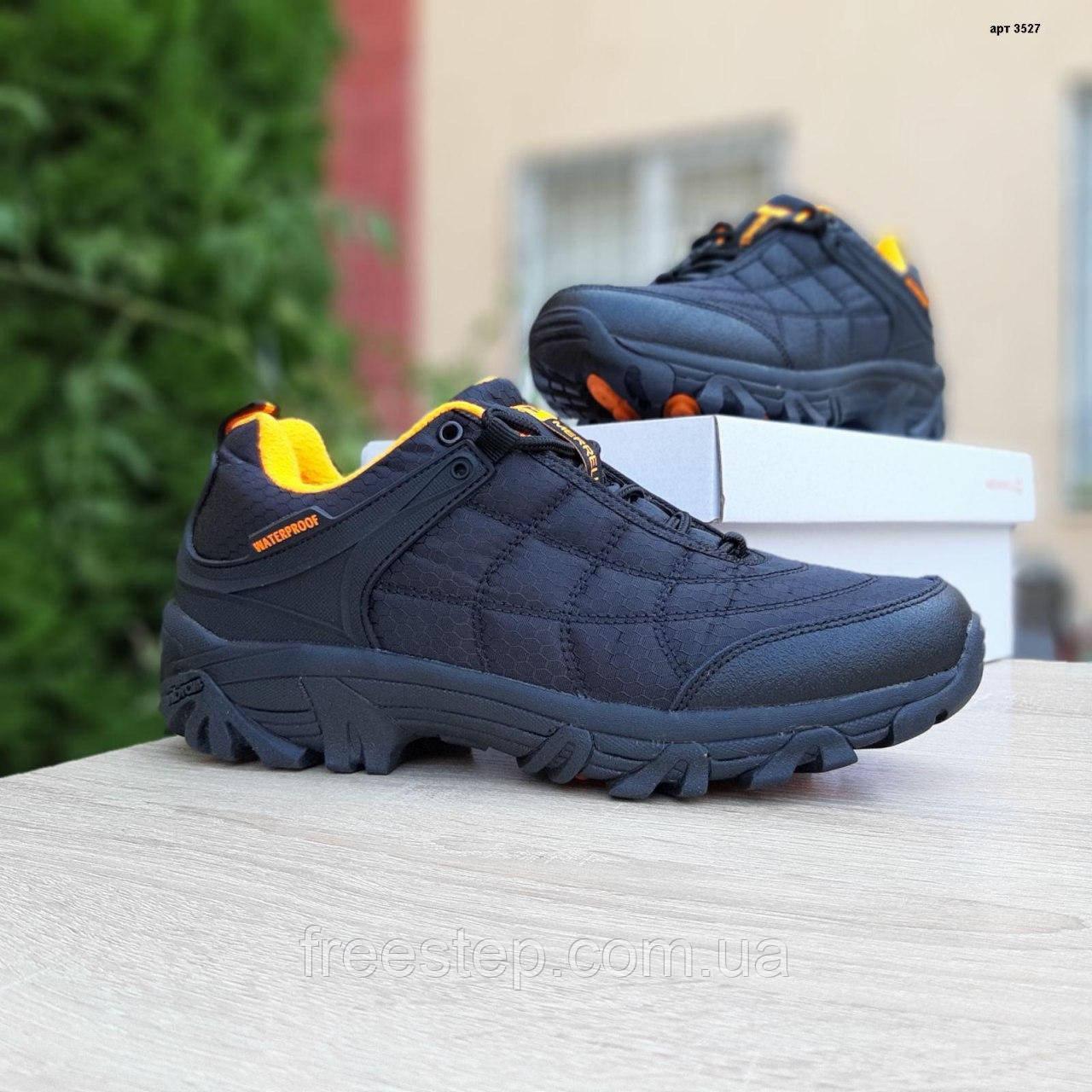 Чоловічі зимові кросівки Merrell Ice Cap Moc чорні з помаранчевим