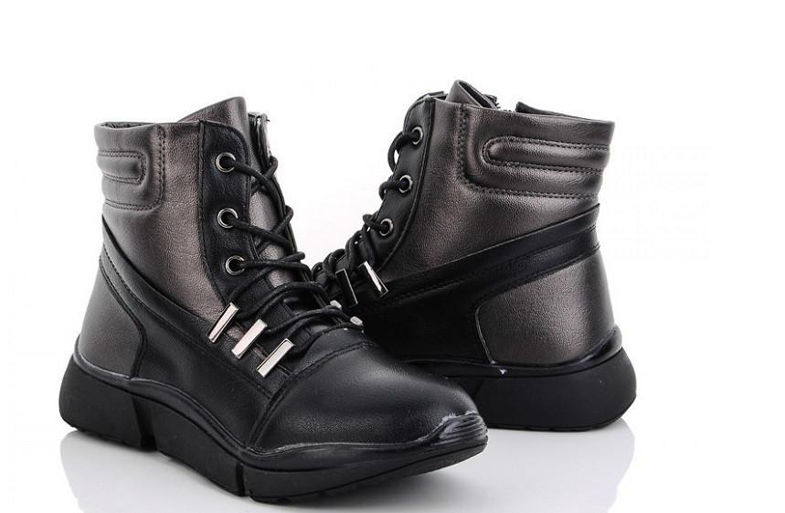 Ботинки детские черные M.L.V.-WMA938-2 (раз.с 32 по 37)