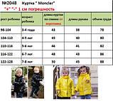 Демисезонная куртка детская плащевка+силикон 150 размер: 98, 104, 110, 116, 122, фото 10