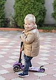 Демисезонная куртка детская плащевка+силикон 150 размер: 98, 104, 110, 116, 122, фото 2