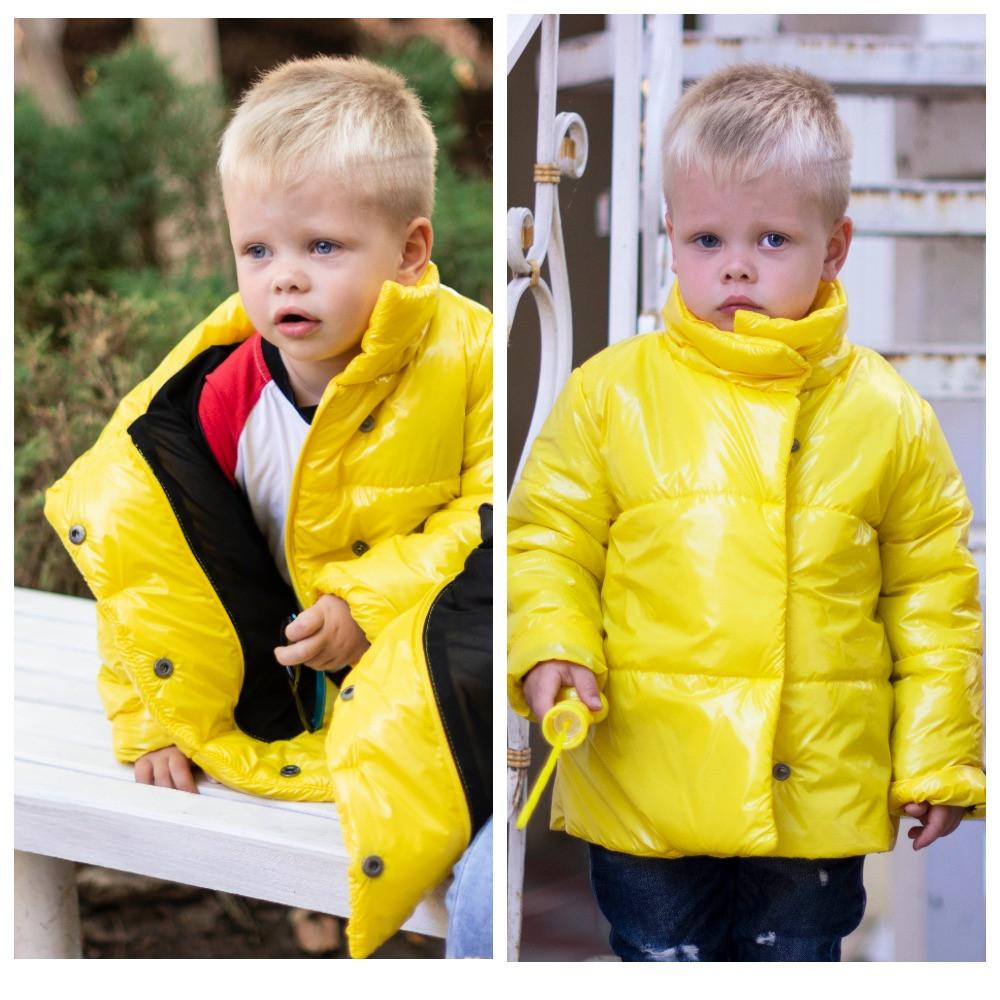 Демисезонная куртка детская плащевка+силикон 150 размер: 98, 104, 110, 116, 122