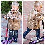 Демисезонная куртка детская плащевка+силикон 150 размер: 98, 104, 110, 116, 122, фото 5