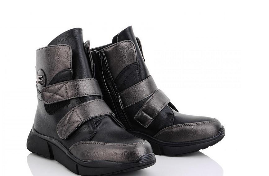 Ботинки детские черные M.L.V.-WMA933-1 (раз.с 32 по 37)
