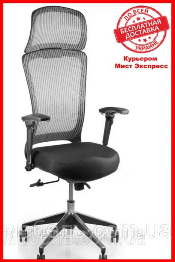 Кресло для работы дома Barsky BS-02 Style Grey, сеточное кресло, серый
