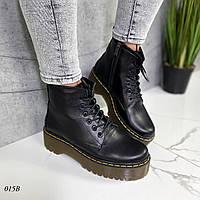 Женские ботинки -Martin- кожаные, фото 1