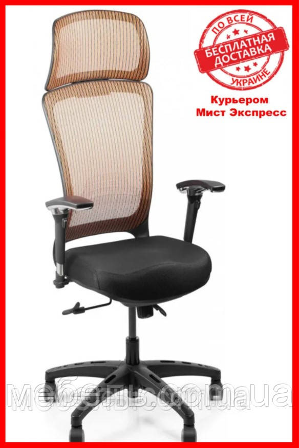 Кресло для работы дома Barsky BS-04 Style Brown, сеточное кресло, коричневый