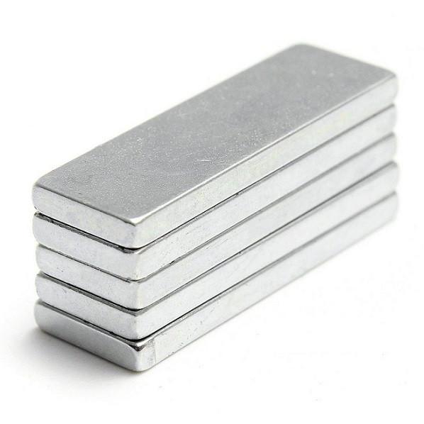 Неодимовый магнит прямоугольник 80x20x10 мм