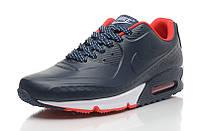 Кроссовки мужские Nike Air Max 90 First Leather (Оригинал), кроссовки найк аир макс 90 тёмно-синие, найки