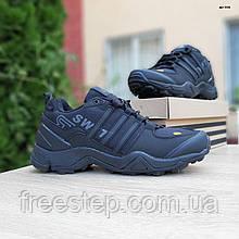 Чоловічі зимові кросівки в стилі Adidas Terrex Swift 465 чорні