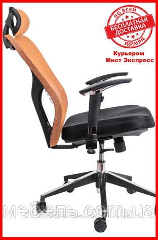 Офисный стул Barsky Fly-01 Butterfly Black/Orange, сетка, фото 2