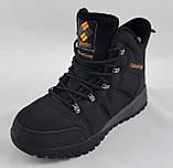 Ботинки Colamb!a ЗИМА-МЕХ Мужские Коламбиа Чёрные Кроссовки (размеры: 43) Видео Обзор, фото 5