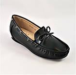 .Женские Мокасины Чёрные Слипоны Кожаные (размеры: 36,39,40,41) - 631, фото 3