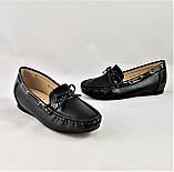 .Женские Мокасины Чёрные Слипоны Кожаные (размеры: 36,39,40,41) - 631, фото 8