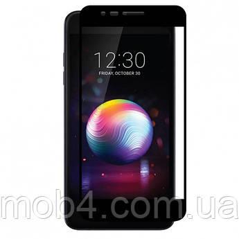 Захисне скло для LG K10 2018 на весь екран (чорне)