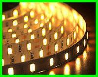 LED Стрічки (3528) Теплий Білий довжина 5м Лід (Відеоогляд)