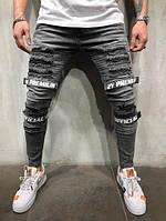 Мужские узкие стильные джинсы