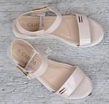 Женские Сандалии Босоножки Летняя Обувь Бежевые (размеры: 36,37), фото 9