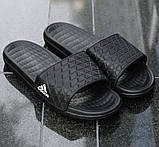Мужские Шлёпанцы Тапочки ADIDAS Сланцы Адидас Чёрные (размеры: 40,41,42,44), фото 3