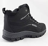 Ботинки ЕССО Зимние Чёрные Мужские на Меху Экко (размеры: 41,42,43,44,45) Видео Обзор, фото 5