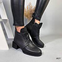 Женские ботинки на каблуке натуральная кожа, фото 1