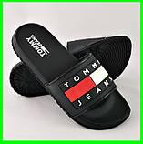 Шлёпанцы Тапочки TOMMY Jeans Сланцы Чёрные Мужские (размеры: 41,42,43,44,45,46), фото 2