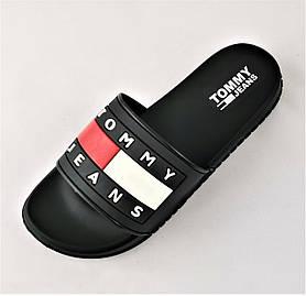 Шлёпанцы Тапочки TOMMY Jeans Сланцы Чёрные Мужские (размеры: 41,43,44,45,46)