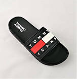 Шлёпанцы Тапочки TOMMY Jeans Сланцы Чёрные Мужские (размеры: 41,42,43,44,45,46), фото 6
