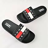 Шлёпанцы Тапочки TOMMY Jeans Сланцы Чёрные Мужские (размеры: 41,42,43,44,45,46), фото 7