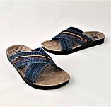 Мужские Шлёпанцы Джинсовые Тапочки Сланцы (размеры: 41,42), фото 6