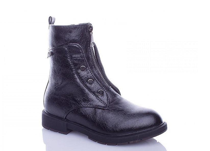 Ботинки детские черные GoldStar-W2203-3-(раз.с 32 по 37)