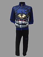 Мужской спортивный костюм UFC Турция светло синий, L(50)