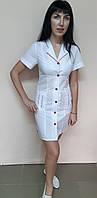 Женский медицинский халат Зина хлопок  короткий рукав