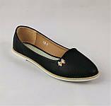 .Женские Балетки Черные Мокасины Туфли (размеры: 36,38,40,41) - 19, фото 2