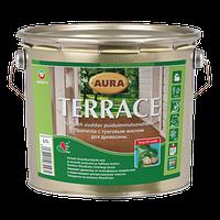 Масло для террас Aura Terrace (Аура Терраса) цвет коричневый 9 л
