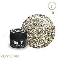 Гель для дизайна Crystal Glitter Gel Milano №10 6 мл